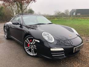 Porsche 911 3.8 997 4S Targa 2dr PDK AWD (Sport Chrono Plus! Recent Porsche Service! ++) Coupe Petrol Basalt Black Metallic at Williams Group Ltd Maidstone