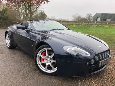 Aston Martin Vantage 4.3 2dr Sportshift (Full Aston History! Nav! +++) Convertible Petrol Midnight BlueAston Martin Vantage 4.3 2dr Sportshift (Full Aston History! Nav! +++) Convertible Petrol Midnight Blue at Williams Group Maidstone