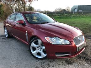 Jaguar XF 4.2 Supercharged SV8 4dr Auto (Heated Steering Wheel! FSH! ++) Saloon Petrol Radiance Red Metallic at Williams Group Ltd Maidstone