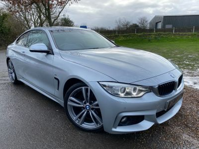 BMW 4 Series 2.0 420d M Sport 2dr (Harman Kardon! LEDs! +++) Coupe Diesel Glacier Silver MetallicBMW 4 Series 2.0 420d M Sport 2dr (Harman Kardon! LEDs! +++) Coupe Diesel Glacier Silver Metallic at Williams Group Maidstone