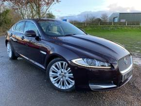 Jaguar XF 3.0d V6 Portfolio 4dr Auto (Bowers + Wilkins! 19in Alloys! +) Saloon Diesel Caviar Red Metallic at Williams Group Ltd Maidstone