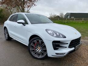 Porsche Macan 3.6 Turbo 5dr PDK (21in Turbo 3! Adaptive Cruise! ++) Estate Petrol Carrara White Pearl at Williams Group Ltd Maidstone