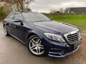 Mercedes-Benz S Class 3.0 S350d AMG Line 4dr 9G-Tronic (Pan Roof! Memory Seats! +++) Saloon Diesel Cavansite Blue Metallic at Williams Group Ltd Maidstone