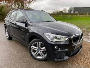 BMW X1 2.0 sDrive 18d M Sport 5dr (1 Owner! 18in Alloys! Leather! +) Estate Diesel Sapphire Black Metallic at Williams Group Ltd Maidstone