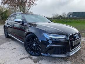 Audi RS6 4.0T FSI Quattro RS 6 5dr Tip Auto (BOSE! LED Headlights! +++) Estate Petrol Mythos Black Metallic at Williams Group Ltd Maidstone