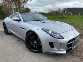 Jaguar F-type 3.0 Supercharged V6 S 2dr Auto (Pan Roof! 20in Alloys! +++) Coupe Petrol Rhodium Silver Metallic at Williams Group Ltd Maidstone