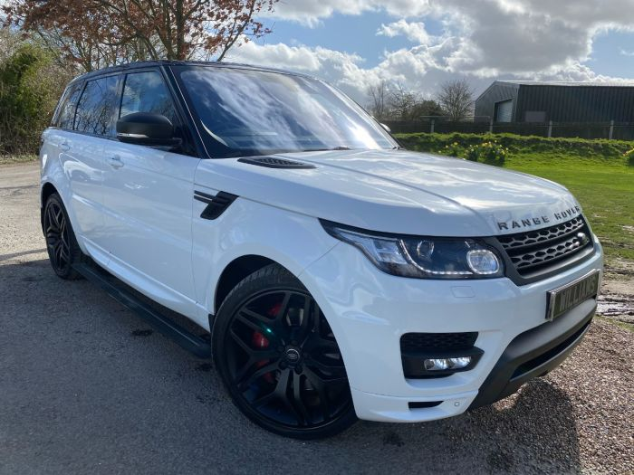 Land Rover Range Rover Sport 3.0 SDV6 [306] Autobiography Dynamic 5dr Auto (Pan Roof! 22in Alloys! +++) Estate Diesel Fuji White
