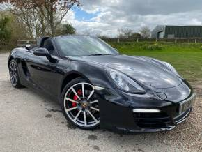 Porsche Boxster 3.4 S 2dr PDK (20in Alloys! Nav! Heated Seats! +) Convertible Petrol Basalt Black at Williams Group Ltd Maidstone