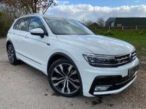 Volkswagen Tiguan 2.0 TSi 180 4Motion R Line 5dr DSG (Just Been Serviced! Rear Cam! +) Estate Petrol Candy White at Williams Group Ltd Maidstone
