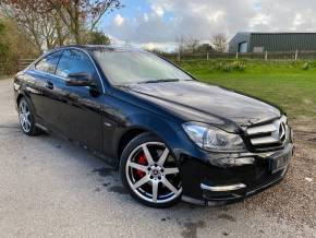 Mercedes-Benz C Class 3.5 C350 BlueEFFICIENCY AMG Sport 2dr Auto (Full Merc SH! Heated Seats! ++) Coupe Petrol Obsidian Black at Williams Group Ltd Maidstone