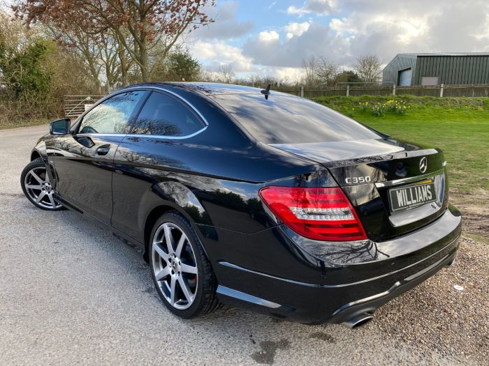 Mercedes-Benz C Class 3.5 C350 BlueEFFICIENCY AMG Sport 2dr Auto (Full Merc SH! Heated Seats! ++) Coupe Petrol Obsidian Black