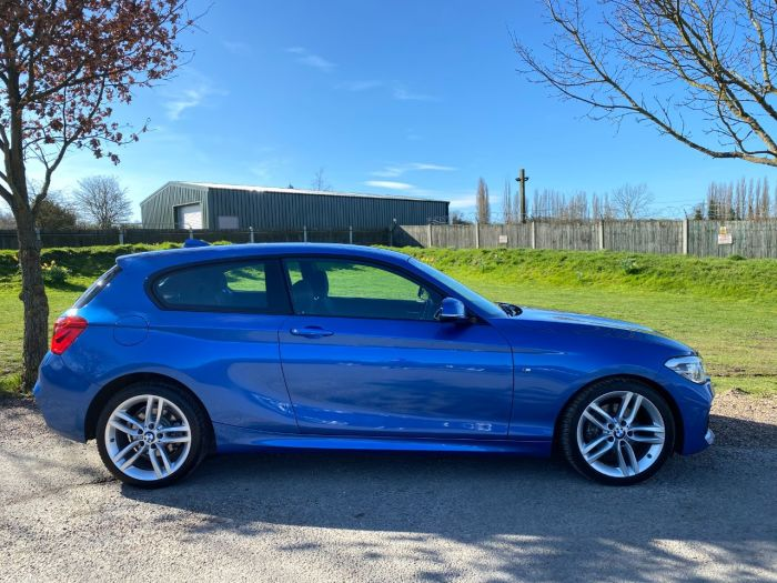 BMW 1 Series 1.6 120i M Sport 3dr (Sunroof! 18in Alloys! +++) Hatchback Petrol Estoril Blue Metallic