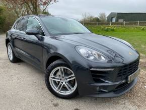 Porsche Macan 3.0 S Diesel 5dr PDK (Full Porsche SH! Pan Roof! ++) Estate Diesel Agate Grey Metallic at Williams Group Ltd Maidstone