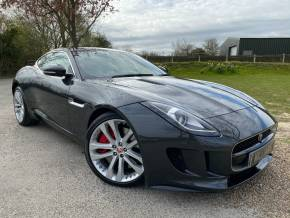 Jaguar F-type 3.0 Supercharged V6 S 2dr Auto (20in Alloys! Pan Roof! +++) Coupe Petrol Waterborne Grey Metallic at Williams Group Ltd Maidstone