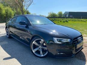 Audi A5 2.0 TDI 177 Quattro Black Edition 2dr (Heated Seats! Park Assist! +++) Coupe Diesel Phantom Black Pearl at Williams Group Ltd Maidstone