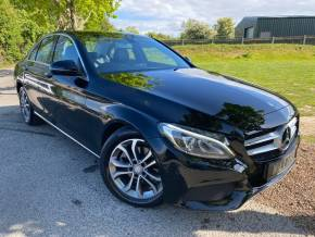 Mercedes-Benz C Class 2.0 C200 Sport Premium 4dr 9G-Tronic (FMBSH! LED Headlights! +++) Saloon Petrol Obsidian Black Metallic at Williams Group Ltd Maidstone