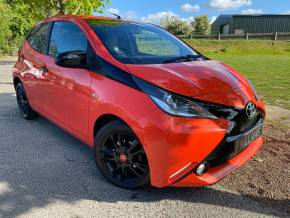 Toyota Aygo 1.0 VVT-i X-Cite 5dr (Nav! FSH! DAB! +++) Hatchback Petrol Pop Orange at Williams Group Ltd Maidstone