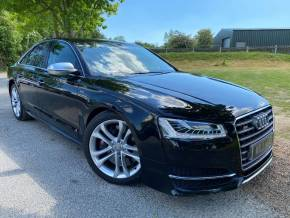 Audi S8 4.0 TFSI Quattro 4dr Tip Auto (Comfort Seats! 20in Alloys! ++) Saloon Petrol Mythos Black Metallic at Williams Group Ltd Maidstone
