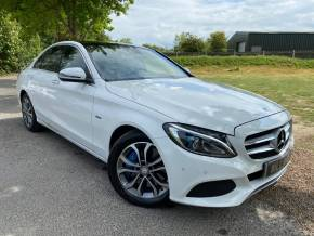 Mercedes-Benz C Class 2.0 C350e Sport Premium Plus 4dr Auto (Privacy Glass! Burmester! ++) Saloon Petrol / Electric Hybrid Polar White at Williams Group Ltd Maidstone