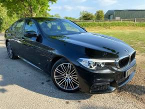 BMW 5 Series 2.0 530e M Sport 4dr Auto (19in Alloys! Full BMW SH! ++) Saloon Petrol / Electric Hybrid Sapphire Black Metallic at Williams Group Ltd Maidstone