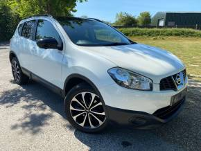 Nissan Qashqai 1.6 [117] 360 5dr (Pan Roof! Rear Camera! ++) Hatchback Petrol Pearl White at Williams Group Ltd Maidstone