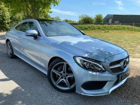 Mercedes-Benz C Class 2.1 C220d AMG Line Premium Plus 2dr Auto (Pan Roof! LED Headlights! +++) Coupe Diesel Diamond Silver Metallic at Williams Group Ltd Maidstone