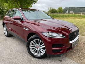 Jaguar F-pace 2.0d Portfolio 5dr Auto AWD (19in Alloys! Seat Memory! ++) Estate Diesel Odyssey Red Metallic at Williams Group Ltd Maidstone