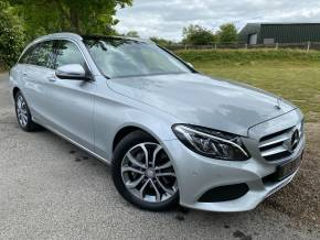 Mercedes-Benz C Class 2.1 C250d Sport Premium 5dr Auto (LED Intelligent Headlights! ++) Estate Diesel Iridium Silver Metallic at Williams Group Ltd Maidstone