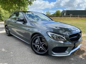 Mercedes-Benz C Class 3.0 C43 4Matic Premium 4dr Auto (Privacy Glass! Pan Roof! ++) Saloon Petrol Selenite Grey Metallic at Williams Group Ltd Maidstone