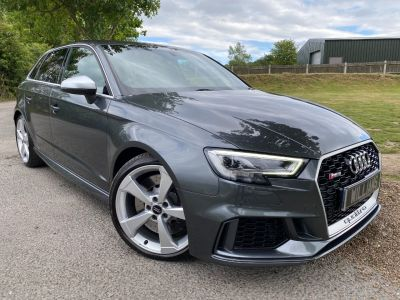 Audi RS3 2.5 RS 3 TFSI 400 Quattro 5dr S Tronic (Sound PacK! 19in Alloys! +++) Hatchback Petrol Nardo Grey at Williams Group Ltd Maidstone