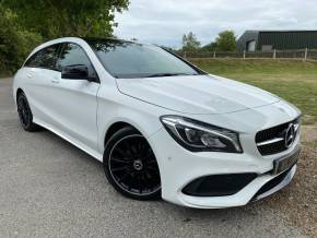 Mercedes-Benz Cla Class 1.6 CLA 200 AMG Line Night Edition Plus 5dr Tip Auto (Pan Roof! Keyless! Rear Cam! +) Estate Petrol Polar White at Williams Group Ltd Maidstone