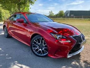 Lexus Rc 300h 2.5 F-Sport 2dr CVT (Sat Nav! Keyless! Rear Camera! +) Coupe Petrol / Electric Hybrid Sonic Red Metallic at Williams Group Ltd Maidstone