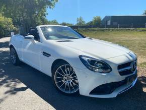 Mercedes-Benz SLC 2.0 SLC 200 AMG Line 2dr 9G-Tronic (Air Scarf! Parktronic! ++) Convertible Petrol Polar White at Williams Group Ltd Maidstone