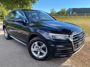 Audi Q5 2.0T FSI Quattro Sport 5dr S Tronic (LED Headlights! Comfort Pack! ++) Estate Petrol Moonlight Blue Metallic at Williams Group Ltd Maidstone