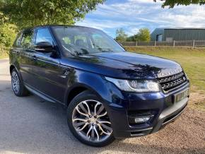 Land Rover Range Rover Sport 3.0 SDV6 HSE Dynamic 5dr Auto (Pan Roof! Full L/Rover SH! ++) Estate Diesel Loire Blue Metallic at Williams Group Ltd Maidstone