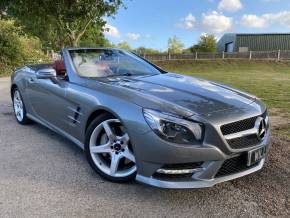 Mercedes-Benz SL Class 3.0 SL 400 AMG Sport 2dr Auto (Full Merc SH! Nappa Leather! +) Convertible Petrol Palladium Silver Metallic at Williams Group Ltd Maidstone