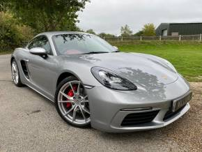 Porsche Cayman 2.5 S 2dr PDK (Sport Chrono Pack! Nav! BOSE! +) Coupe Petrol Silver at Williams Group Ltd Maidstone