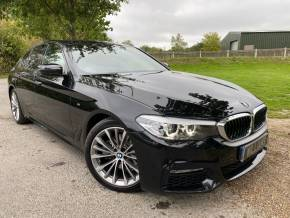 BMW 5 Series 2.0 520d xDrive M Sport 4dr Auto (19in Alloys! Sunroof! HUD! +++) Saloon Diesel Sapphire Black Metallic at Williams Group Ltd Maidstone
