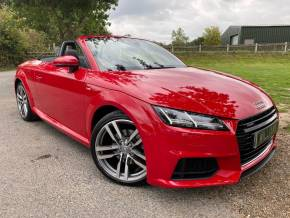 Audi TT 2.0T FSI Quattro S Line 2dr S Tronic (Tech Pack! Bang + Olufsen! ++) Convertible Petrol Tango Red Metallic at Williams Group Ltd Maidstone