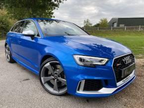 Audi RS3 2.5 TFSI RS 3 Quattro 5dr S Tronic (Audi Sport Pack! Matrix LED's! +) Hatchback Petrol Ara Blue Crystal at Williams Group Ltd Maidstone