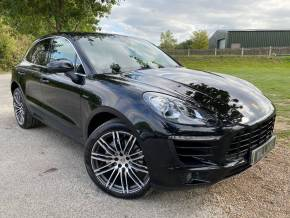 Porsche Macan 3.0 S Diesel 5dr PDK (21in Alloys! Pan Roof! LDW! ++) Estate Diesel Jet Black Metallic at Williams Group Ltd Maidstone