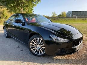 Maserati Ghibli 3.0 V6d 4dr Auto [Luxury Pack] (Extended Leather! 19in Alloys! +) Saloon Diesel Nero Black Metallic at Williams Group Ltd Maidstone