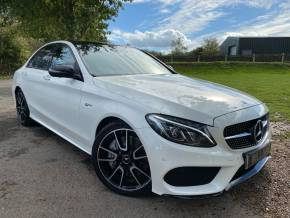 Mercedes-Benz C Class 3.0 C43 4Matic Premium Plus 4dr Auto (AMG Exhaust! Carbon Trim! +++) Saloon Petrol Diamond White Metallic at Williams Group Ltd Maidstone
