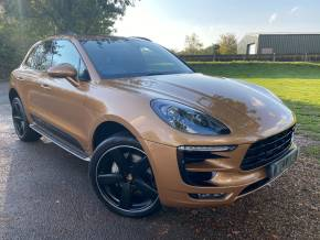 Porsche Macan 3.0 S Diesel 5dr PDK (Huge Spec! £16,000 Options! Burmester! PASM! ++) Estate Diesel Aurum Gold Metallic at Williams Group Ltd Maidstone