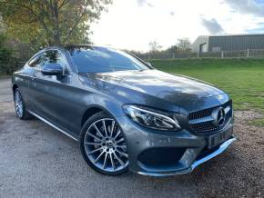 Mercedes-Benz C Class 2.1 C250d 4Matic AMG Line Premium Plus 2dr Auto (19in Alloys! 360 Camera! +++) Coupe Diesel Selenite Grey Metallic at Williams Group Ltd Maidstone