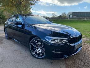 BMW 5 Series 3.0 540i xDrive M Sport 4dr Auto (20in Alloys! Icon LEDs! +++) Saloon Petrol Carbon Black Metallic at Williams Group Ltd Maidstone