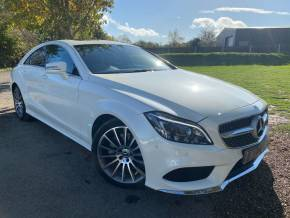Mercedes-Benz CLS 3.0 CLS 350d AMG Line Premium 4dr 9G-Tronic (Privacy Glass! Full Merc SH! +) Coupe Diesel Diamond White Metallic at Williams Group Ltd Maidstone