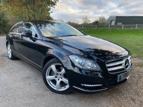 Mercedes-Benz CLS 2.1 CLS 250 CDI BlueEFFICIENCY 5dr Tip Auto (COMAND! Bi-Xenons! +++) Estate Diesel Obsidian Black Metallic at Williams Group Ltd Maidstone