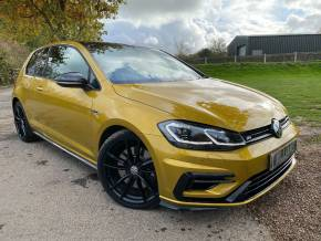 Volkswagen Golf 2.0 TSI R DSG 4Motion (s/s) 3dr (Discover Nav! Pan Roof! +++) Hatchback Petrol Tumeric Yellow Metallic at Williams Group Ltd Maidstone