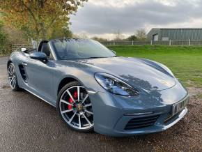 Porsche Boxster 2.5 S 2dr PDK (Huge Spec! Sport Chrono! BOSE! +) Convertible Petrol Graphite Blue Metallic at Williams Group Ltd Maidstone